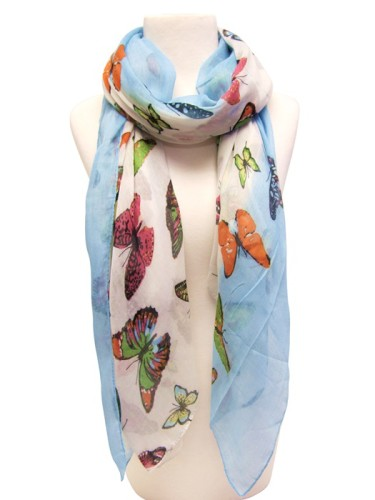 Bright Butterfly Spring Scarves Wholesale Scarves for Spring-Dynamic Asia