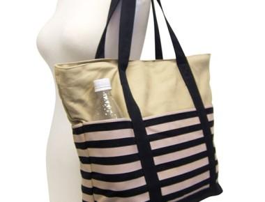 California Beach Bags Striped Canvas Beach Bag-Dynamic Asia
