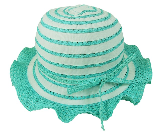 Child's Lacy Ruffle Sun Hat Wholesale Sun Hats for Kids-Dynamic Asia