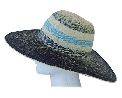 Colorblock Toyo Straw UV Sunhat