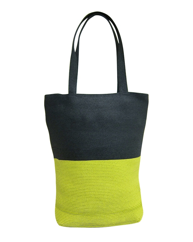 Contrasting Neon and Black Beach Summer Tote Bag Wholesale Beach Bag Supplier
