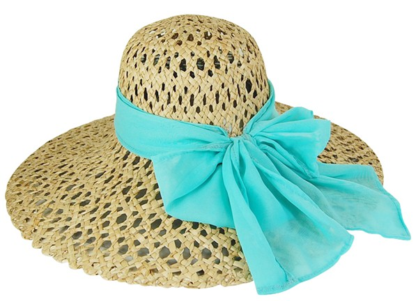 Dynamic Asia Beach Hats Los Angeles Wholesale Supplier Open Weave Straw Hat with Bright Colorful Sash Bow