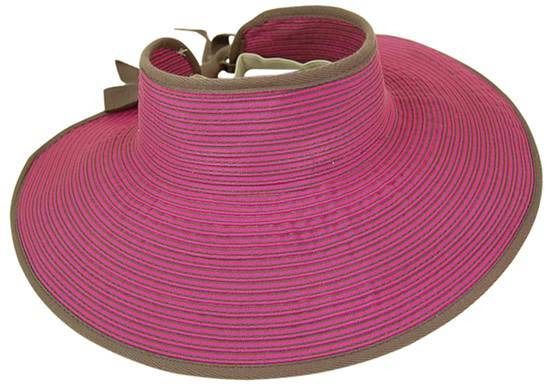 Dynamic Asia Summer 2014 Wholesale Stripped Ribbon Rollup Visor