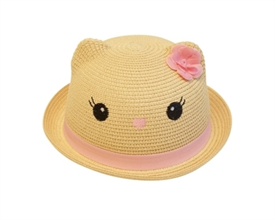 wholesale girls straw kitty hats kids child hat