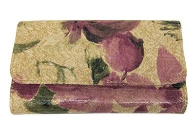 clutch purses wholesale straw handbag flowers print