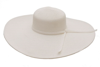 Kentucky Derby Hats Wholesale White Extra Wide Brim Hat-Dynamic Asia