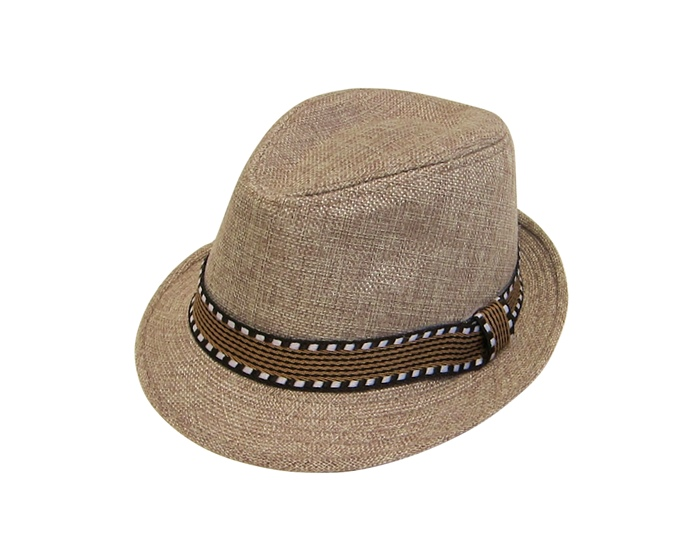 Kids Linen Fedora With Band Wholesale Fedoras For Kids-Dynamic Asia