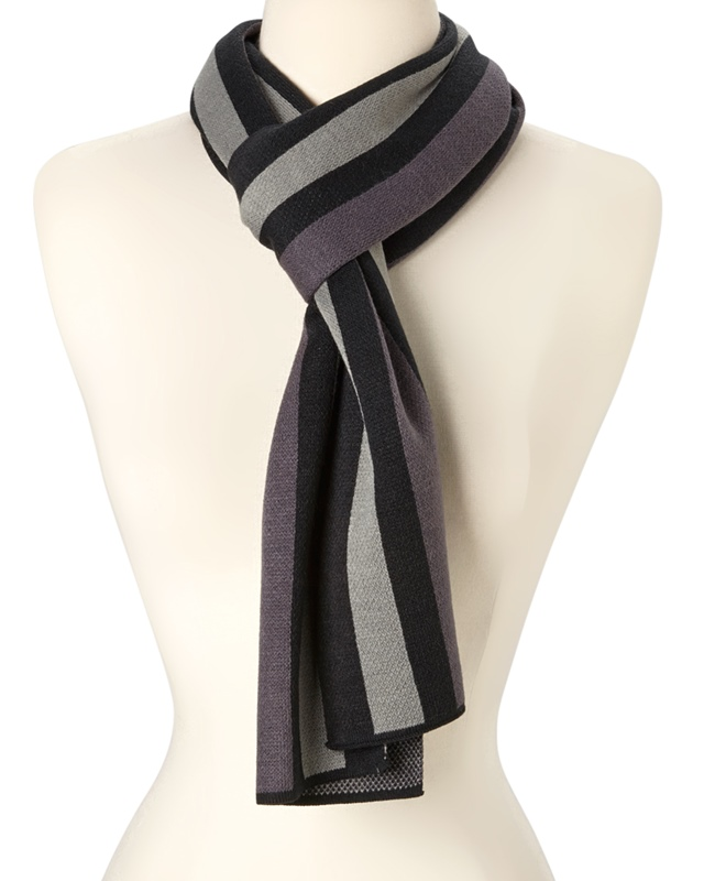 Knitted Stipe Winter Scarf-Dynamic Asia