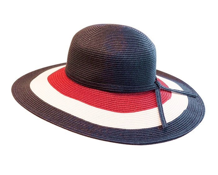 Red White and Blue Wide Brim Sun Hat Floppy Hat with Adjustable Inner  Drawstring-Dynamic. Floppy hats wholesale 6f92fbfd1ef1