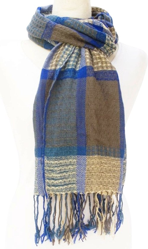 Square Print Woven Scarf-Dynamic Asia
