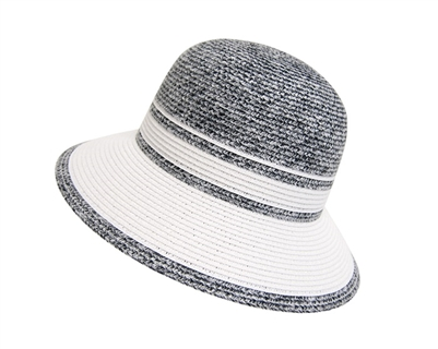 White and Gray Bucket Hat Wholesale