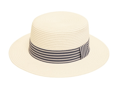 Wholesale Boater Hat White
