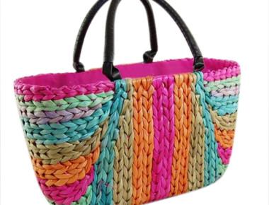 Wholesale Rainbow Cornhusk Beach Bag-Dynamic Asia