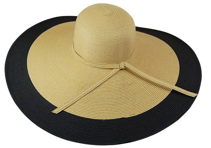 ... Wholesale Straw Hat Manufacturer Two Tone Oversized Wide Brim Floppy Hat-  Dynamic Asia ... e394b45de82
