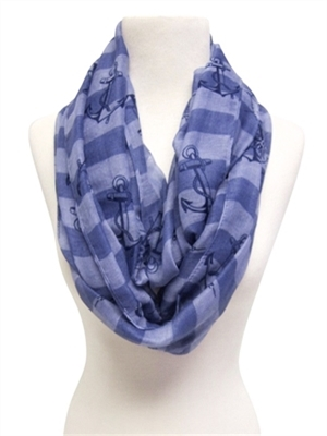 Wholesale striped infinity scarf 2017