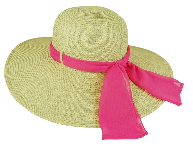 Wide Brim Hat with Ribbon-Dynamic Asia
