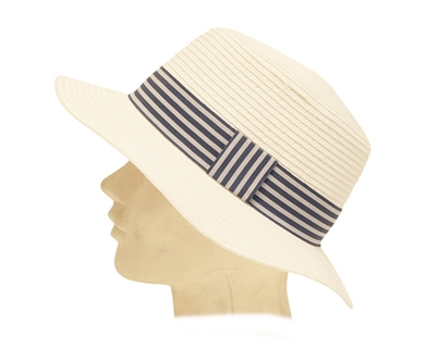 Womens Straw Boater Hat Wholesale