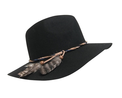 Wool Felt Panama Hat with Feathers Wholesale Festival Hats-Dynamic Asia