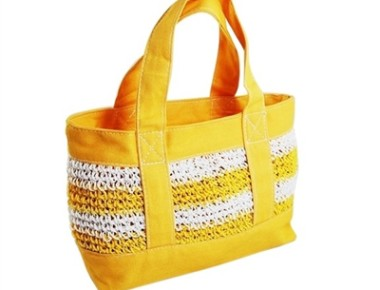 best straw and canvas beach tote