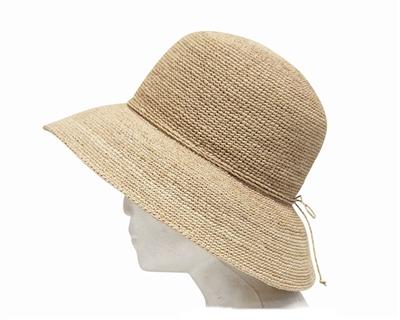 beach rafia lampshade hat for women