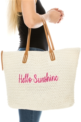 4ce0294487ed wholesale straw beach bags - Wholesale Straw Hats   Beach Bags