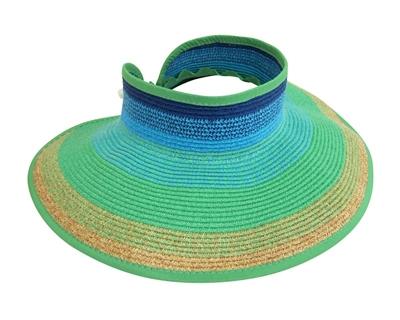 wholesale facesavers wholesale sunvisors rollup visors in bulk wholesale hats  sun protection wholesale sun visor hats aea98d9b5f09