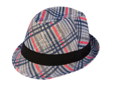 spring summer closeouts 2015 Plaid Fedora $3 Sale Hats $3 $2 and $1 hats wholesale-Dynamic Asia