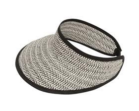 wholesale black lined lightweight straw sun visor