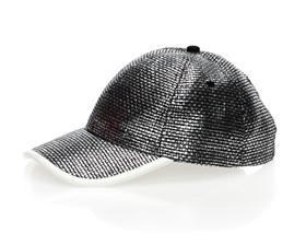 wholesale black metallic straw baseball cap