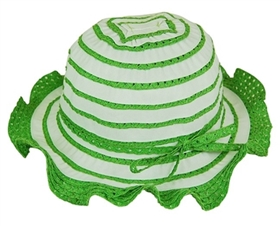 wholesale child lacy ruffle sun hat in green