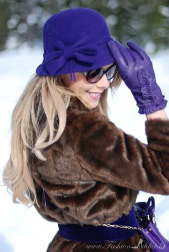 wholesale cloche hats purple winter fashion accessories - kier mellour