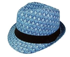 wholesale diamond pattern straw fedora hat