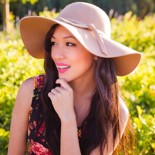 wholesale felt floppy hats - california fashion blogger alina dinh