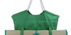 wholesale green canvas beach tote