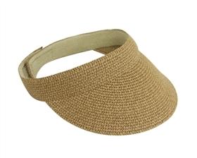wholesale heathered sewn braid visor