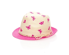 wholesale kids butterfly fedora hat