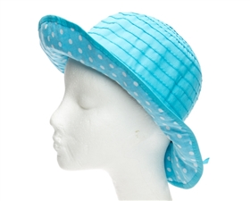 wholesale kids sun hat with dot underbrim