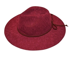 wholesale knit panama hat with braid tie