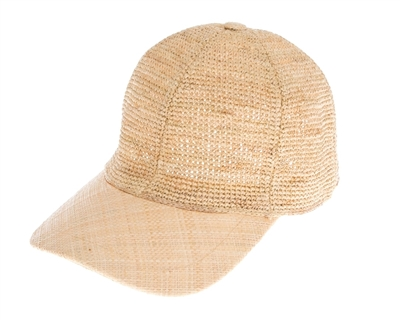 ... wholesale ladies summer caps and hats - fine raffia straw womens  baseball cap c2dc4131d1d