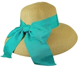 wholesale luxurious lampshade straw hat wide ribbon