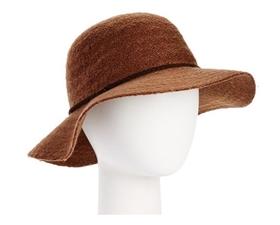 wholesale mohair knit short brim floppy hat