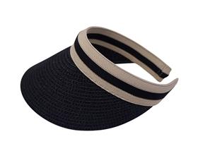 wholesale navy straw ribbon clip sun visor