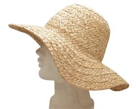wholesale organic raffia straw sun hat