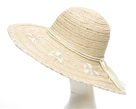 wholesale seashells stitch edge floppy straw hat