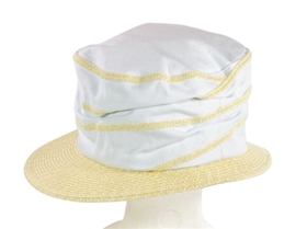 wholesale squiggly straw canvas bucket hat
