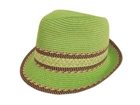 wholesale straw fedora mixed braid trim