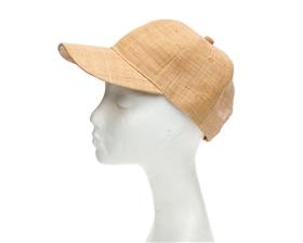 wholesale tan raffia straw baseball cap