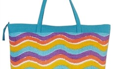 wholesale waves and stripes toyo tote bag