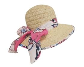wholesale womens raffia sun hat linen sash