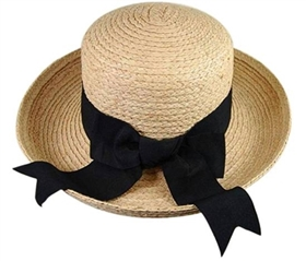 wholesale womens raffia turn up hat